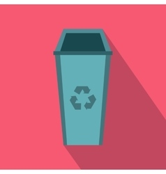 Open trash can icon flat style vector