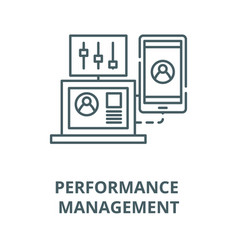 Performance management line icon linear vector
