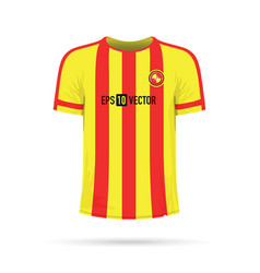red and yellow stripped t-shirt vector image