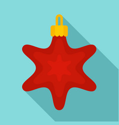 red star xmas toy icon flat style vector image