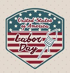 Retro labor day design vector