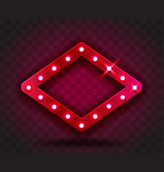 retro show time rhombus frame signs realistic vector image
