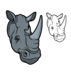rhino or rhinoceros african animal mascot vector image
