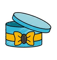 round box ribbon vector image