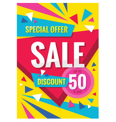 sale - concept vertical banner design discount vector image