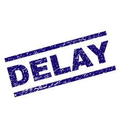 Scratched textured delay stamp seal vector