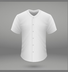 shirt template for baseball jersey vector image