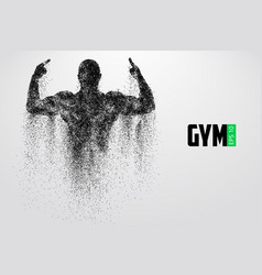 Silhouette of a bodybuilder gym logo vector