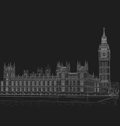 sketch palace westminster vector image