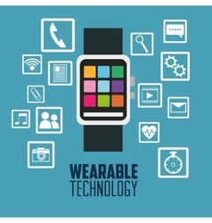 Smart watch and wearable technology design vector