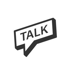 Talk logo icon in flat style speech bubble on vector