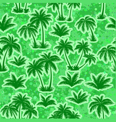 tropical palms silhouettes seamless vector image