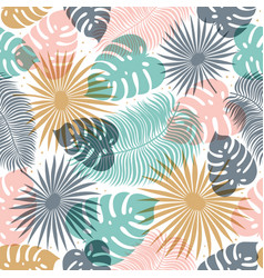 tropical seamless pattern in pastel colors summer vector image