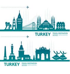 Turkey travel destination vector