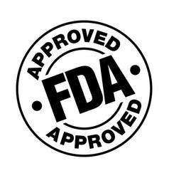 us food and drug administration fda approved stamp vector image