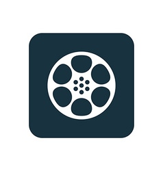 video film icon Rounded squares button vector image