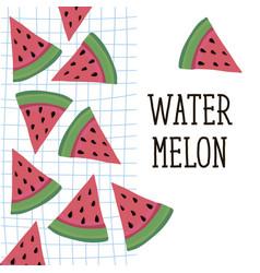 Watermelon style food fruit sweet vector