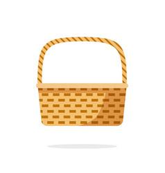 Wicker picnic weave basket or rustic bag vector