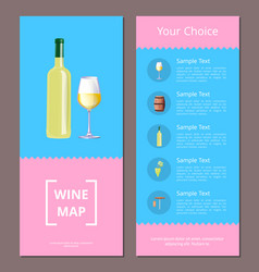 Wine map your choice vertical oblong pages set vector
