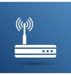 wireless router icon wifi adsl ethernet vector image