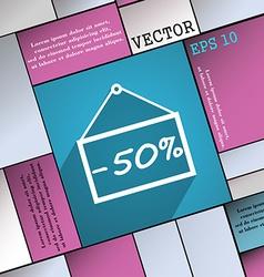 50 discount icon symbol Flat modern web design vector image vector image