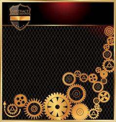 Abstract gears background vector