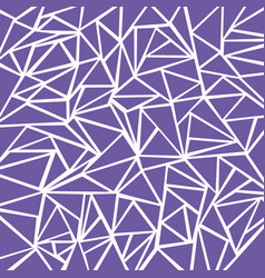 abstract purple geometric and triangle patterns vector image vector image
