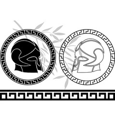 fantasy ancient helmets vector image vector image
