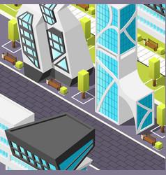 futuristic architecture isometric background vector image vector image