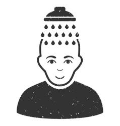 Head shower grainy texture icon vector