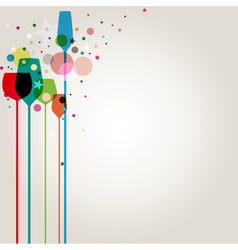 lets party background vector image vector image