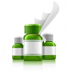 medication bottles vector image vector image