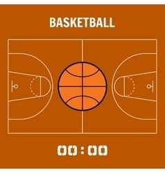 Basketball court the plan field Sports ball flat vector image