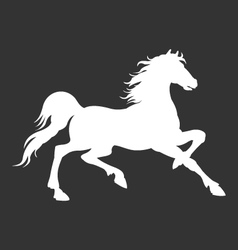 horse silhouette logo template vector image