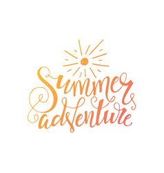 summer adventure poster vector image