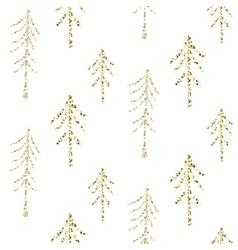 Gold foil glitter line stripes seamless pattern vector image vector image