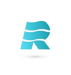 Letter R marine flag logo icon design template vector image vector image