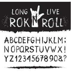 rocknroll alphabet font vector image vector image