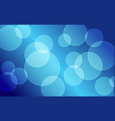 abstract blue bokeh circles background vector image