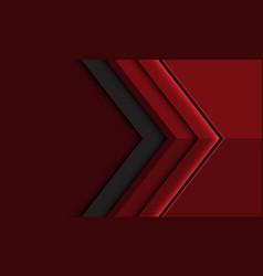 Abstract deep red grey arrow direction vector