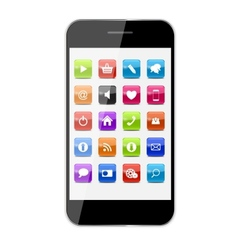 Abstract design mobile phone with glass button vector