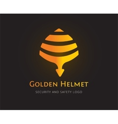 Abstract helmet logo template for branding vector