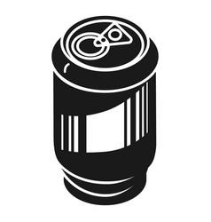 Aluminum can for drinks icon simple style vector
