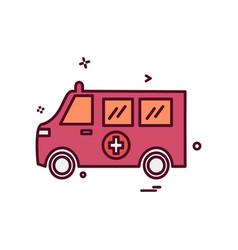 ambulance icon design vector image