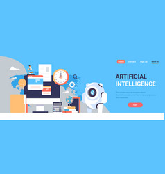 artificial intelligence finance analysis vector image