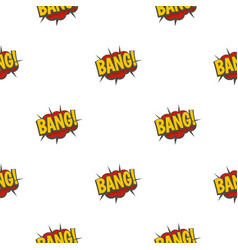 Bang comic book explosion pattern seamless vector