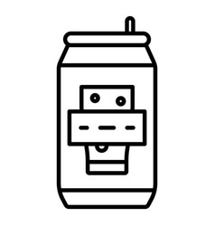 beer tin can icon outline style vector image