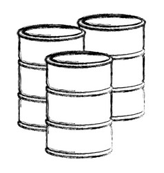 blurred silhouette set oil barrels vector image