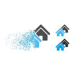 broken pixelated halftone realty icon vector image