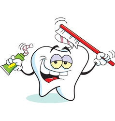 Cartoon Toothbrush Tooth vector image